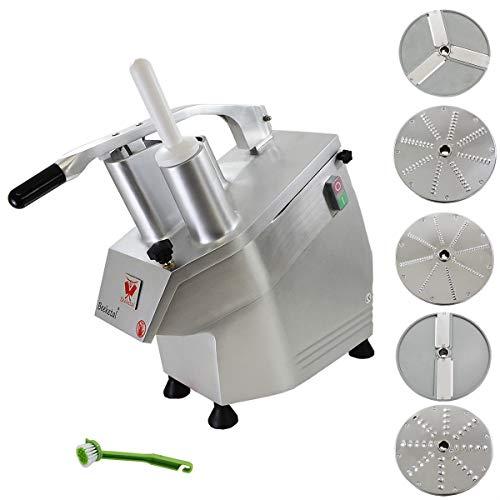 Beeketal 'GS750' Profi Gastro Gemüseschneider elektrisch (ca. 240kg/h Durchsatz), Gemüseschneidemaschine mit...
