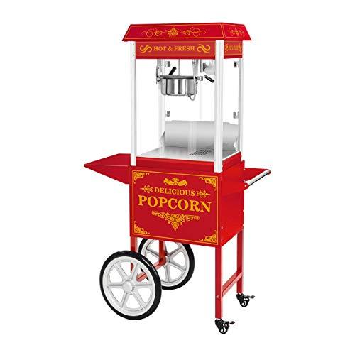 Royal Catering RCPW-16.3 Popcornmaschine Popcornmaker mit Wagen (1600 W, 5 kg/h 16 L/h, Topfbeschichtung...