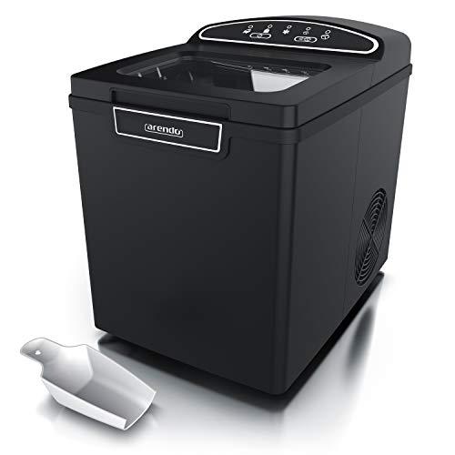 Arendo - Eiswürfelmaschine Edelstahl - Eiswürfelbereiter - ice maker maschine - 1,8 Liter -...