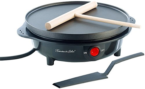 Rosenstein & Söhne Mini Crepes Maker: Elektrischer Mini-Crêpes-Maker PKM-100, 500 Watt, Ø 18 cm...