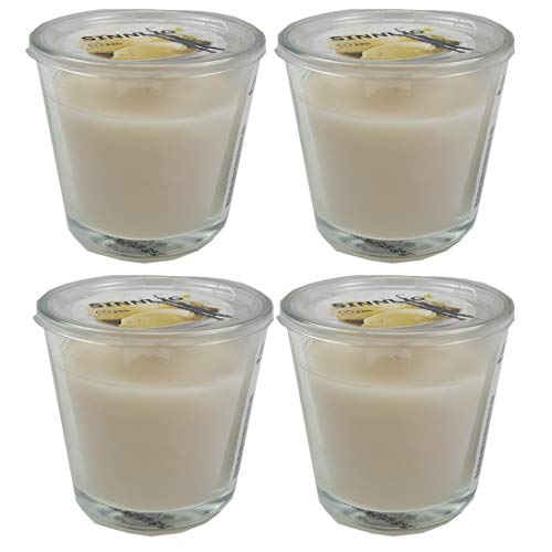 4er Set IKEA SINNLIG - Duftkerze im Glas ( Vanille)