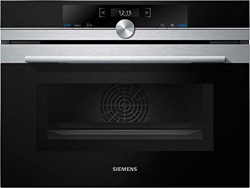 Siemens CM633GBS1 iQ700 Backofen Elektro / 45 L / Edelstahl / Integrierte Mikrowelle / LED-Innenbeleuchtung