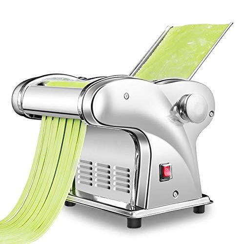 CGOLDENWALL Elektrische Nudelmaschine aus Edelstahl mit 1.5mm Runde &4mm flache Klinge/Pasta Maschine mit...