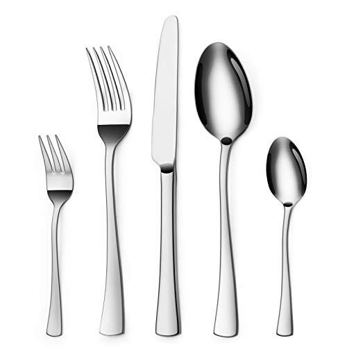 Sharecook 30 Stück Edelstahlbesteck,Besteck Besteck-Set, Messer Gabeln Löffel Set für 6 Personen (Besteck,...