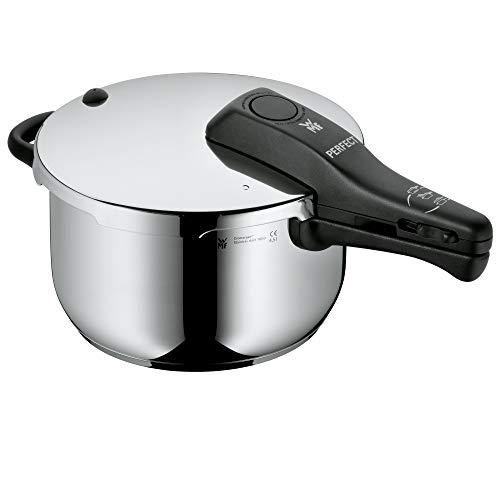WMF Perfect Schnellkochtopf Induktion, Dampfkochtopf 4,5l, Cromargan Edelstahl poliert, 2 Kochstufen,...