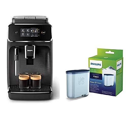 Philips EP2220/10 SensorTouch Benutzeroberfläche Kaffeevollautomat, schwarz/schwarz-gebürstet + Kalk...