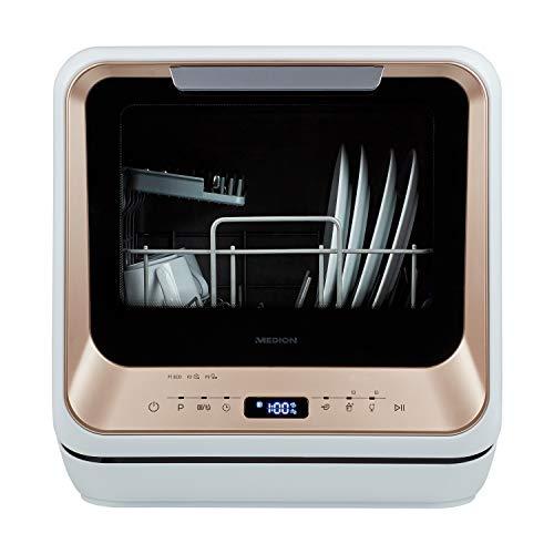 MEDION Mini Geschirrspüler (Tischgeschirrspüler, Spülmaschine für 2 Maßgedecke, funktioniert mit/ohne...