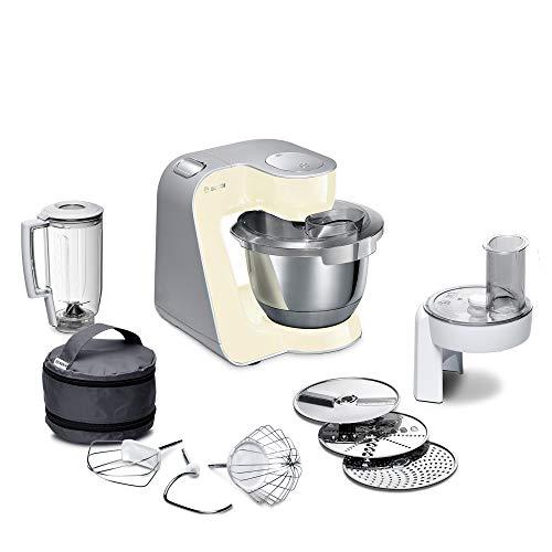 Bosch Küchenmaschine MUM5 CreationLine MUM58920, Edelstahl-Schüssel 3,9 L, Mixer 1,25 L, Planetenrührwerk,...