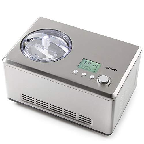 Domo DO9201I Eismaschine, Edelstahl rostfrei, 2 liters, Silber