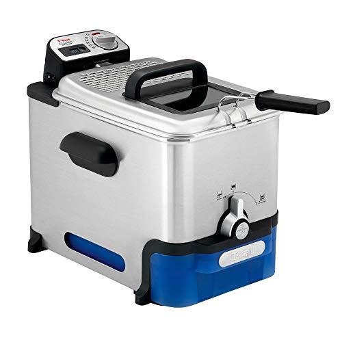Tefal FR8040 Oleoclean Pro Inox & Design Fritteuse | 2300W | Kapazität 1,2 Kg | Herausnehmbarer Ölbehälter...
