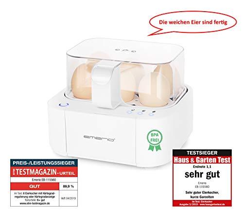 Emerio EB-115560.2, NEUHEIT, kocht alle drei Garstufen [weich|mittel|hart] in nur einem Kochvorgang mit...