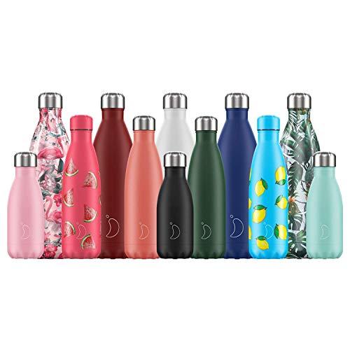 Chilly's Wasserflasche - Edelstal und wiederverwendbar - Auslaufsicher, schweißfrei - Elefant - 260ml