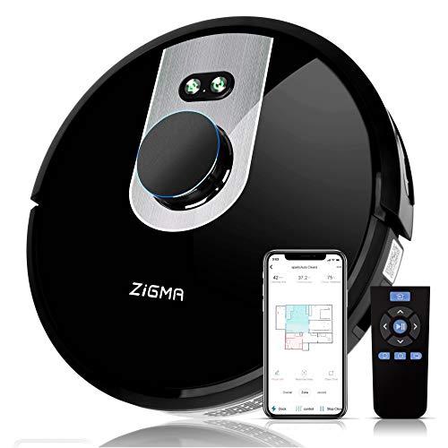 Zigma Spark Saugroboter, Staubsauger Roboter mit Wischfunktion (mit Wassertank), LDS Navigation und Exklusive...