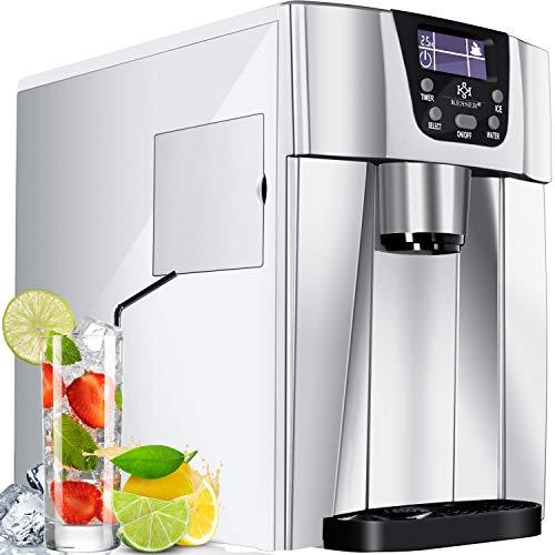 KESSER® Eiswürfelbereiter   Eiswürfelmaschine Edelstahl   100W Ice Maker   12 kg 24 h   2 Würfelgrößen  ...