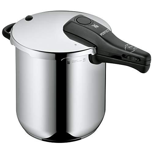 WMF Perfect Schnellkochtopf Induktion 8,5l, Dampfkochtopf, Cromargan Edelstahl poliert, 2 Kochstufen,...