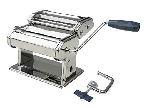 FACKELMANN Nudelmaschine #easyprepare, hochwertige Pastamaschine aus Edelstahl, manuelle Nudelmaschine mit 3...