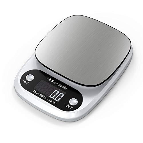 Lefun Küchenwaage Digital, Digitale Küchenwaage mit großer Präzision 0.1g/Max 5kg Elektrische Waage...