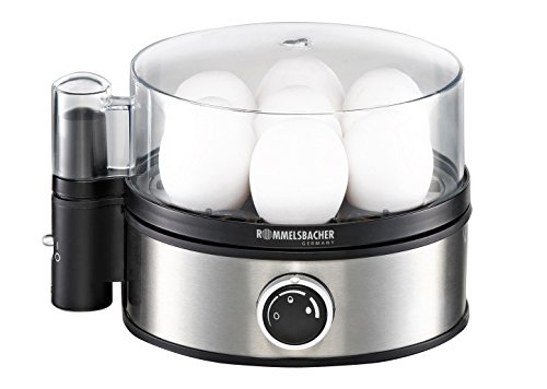 ROMMELSBACHER Eierkocher ER 400 - für 1-7 Eier, einstellbarer Härtegrad, elektronische Kochzeitüberwachung,...