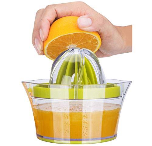 iheyfill Zitronenpresse 4 in 1 Orangenpresse Zitruspresse mit Behälter 400ml, Manuelle Saftpresse...