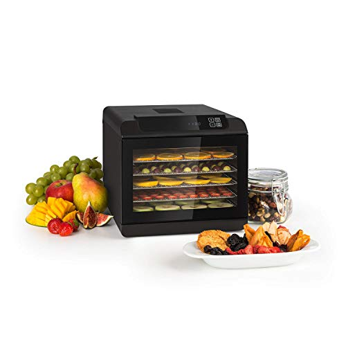 Klarstein Arizona Jerky Dörrautomat - Dörrgerät, Dehydrator, trocknet Obst, Fleisch und Früchte, 500 Watt,...