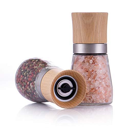 Zolmer® Gewürzmühle 2er Set mit verstellbarem Keramikmahlwerk - Edle Salzmühle & Pfeffermühle aus...