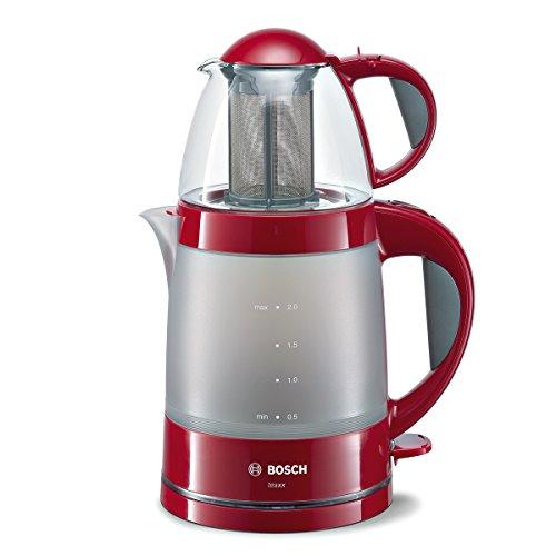 Bosch TTA2010 Teebereiter, Wasserkocher 2 L, Teekanne 0,7 L, Wahlschalter Wasser aufkochen/heiß halten, 1785...