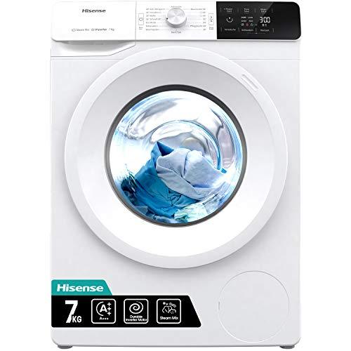 Hisense WFGE70141VM/S Waschmaschine mit Dampf/Inverter Motor/Aqua Stop/Slim Line/ 7kg/...