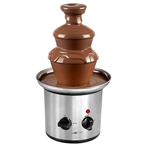 Clatronic SKB 3248 Schokoladenbrunnen, für Jede Schokolade und Karamell mit Schmelz-und Fließfunktion, INOX