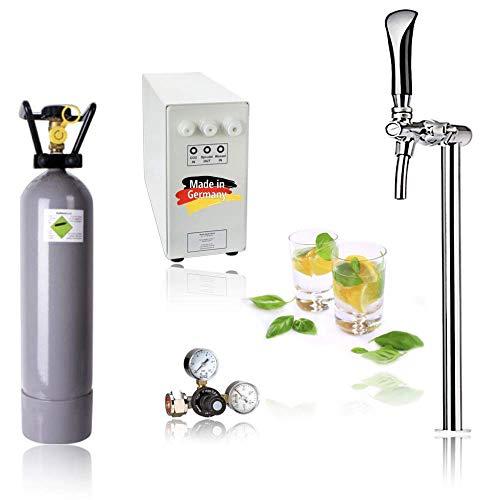 SPRUDELUX® Untertisch-Trinkwassersystem - Trinkwassersprudler Sprudel-Lok - NEUHEIT! inkl. Tesoro Edelstahl...