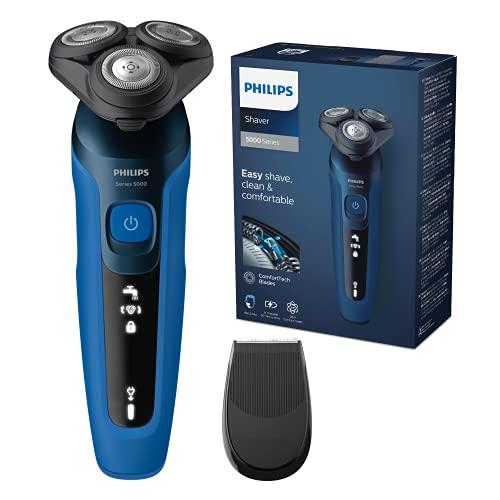 Philips Series 5000 Elektrischer Nass- und Trockenrasierer S5466/18, Leistungsstarke & sanfte Rasur,...