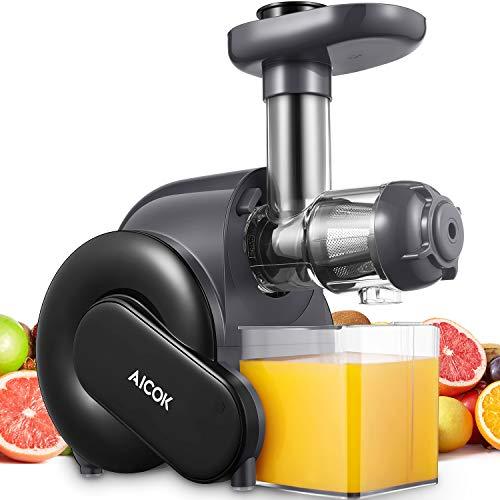 Slow Juicer, Aicok Entsafter Gemüse und Obst BPA-frei mit 2 Filter, Rücklauffunktion, Anti-Oxidation Juicer...