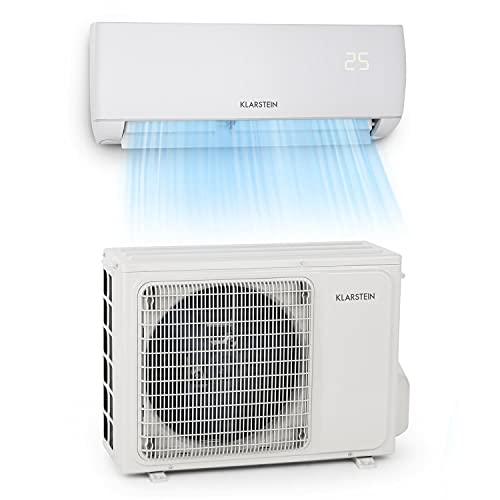 Klarstein Windwaker - Split-Klimaanlage, selbstreinigend, Fresh Air- und Golden Fin Technology, Long Distance...
