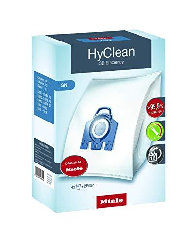 Miele 9917730 Staubbeutel GN HyClean 3D, 4 Staubbeutel, 1 Air Clean Abluftfilter für saubere Raumlauft, 1...