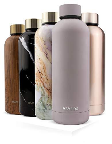 MAMEIDO Trinkflasche Edelstahl - Taupe Grau Matt - 750ml,0,75lThermosflasche - auslaufsicher, BPA frei...
