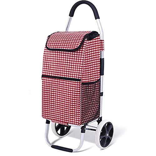 WYZXR Einkaufswagen, Faltbarer Einkaufswagen Treppensteigwagen mit wasserdichter Einkaufstasche, für...