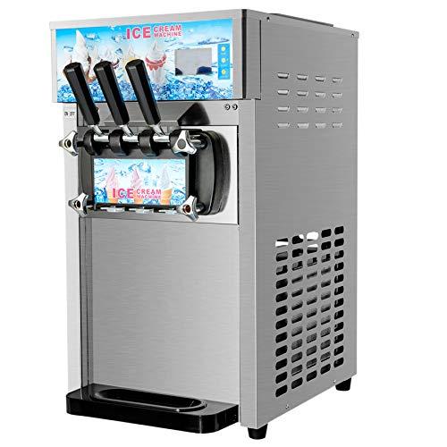 Z ZELUS 1200W Softeismaschine Kommerzielle Eismaschine Speiseeisbereiter Eiscrememaschine Speiseeismaschine 3...