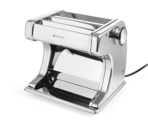 HENDI Pastamaschine, Elektrisch, für die Zubereitung von frischer pasta, Teigroller, Tagliatelle, Fettucine,...