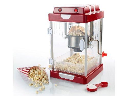 Rosenstein & Söhne Popcornmaschinen: Retro-Popcorn-Maschine'Movie' im 50er-Jahre-Look (Popcornmaschine Retro)