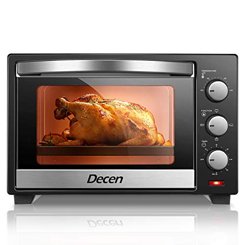Decen Minibackofen 25 Liter | Pizza-Ofen | Mini Ofen | inkl. Backblech und Grillrost | herhausnehmbares...