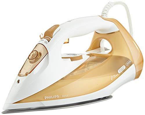 Philips Azur Dampfbügeleisen GC4549/00 (2500 W, 210 g Dampfstoß) weiß-beige