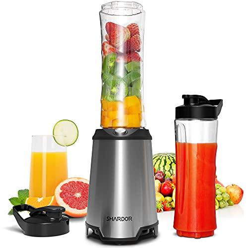 SHARDOR Mixer Smoothie Maker Mix & Go 350W für Gemüse/Obst/Tiefkühlfrüchte/Milch /Juice Shakes Babynahrung...