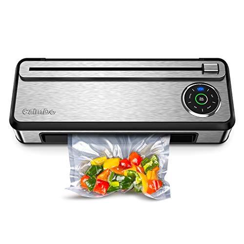 CalmDo Vakuumiergerät V77 Vakuumierer Vollautomatisch für Trockene, Feuchte,Pulverförmige und Ölige Essen,...