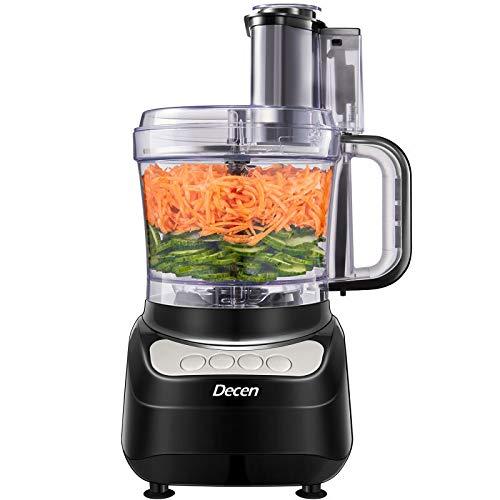 Küchenmaschine, Decen 2L Food Processor, 4 Geschwindigkeit Elektrische Reibe, Fleisch Zerkleinerer inkl...
