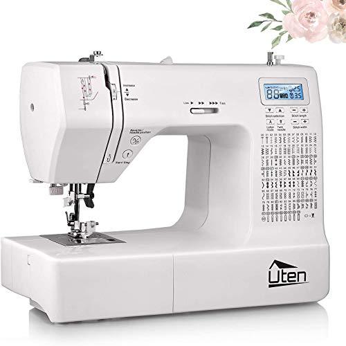 Uten Nähmaschine Elektronisch Freiarm mit 200 Stiche, Für Profi Anfänger DIY Begeister Sewing Machine