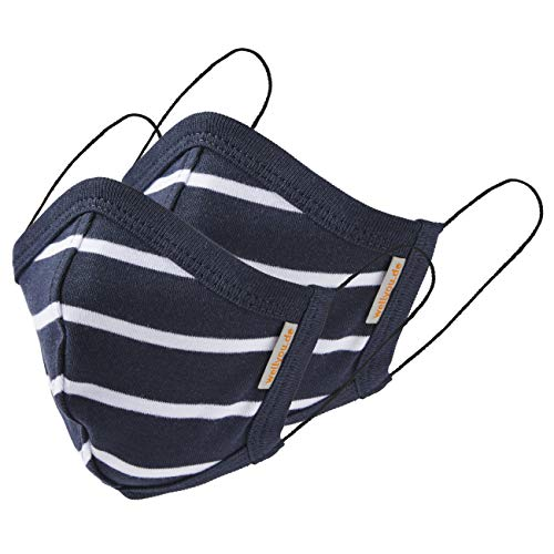wellyou 2er Set Kinder und Erwachsene Masken, Mundschutzmaske, gesicht mask, face mask aus 100% Baumwolle Gr....