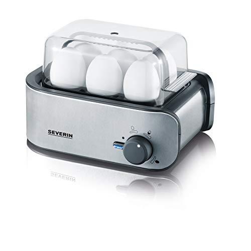 SEVERIN Eierkocher, Inkl. Wasser-Messbecher mit Eierstecher, 6 Eier, 3 Härtestufen, EK 3134,...