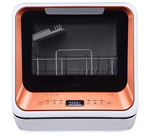Midea ST 3.20N Mini-Geschirrspüler Tischgeschirrspüler, Spülmaschine für 2 Maßgedecke, funktioniert...