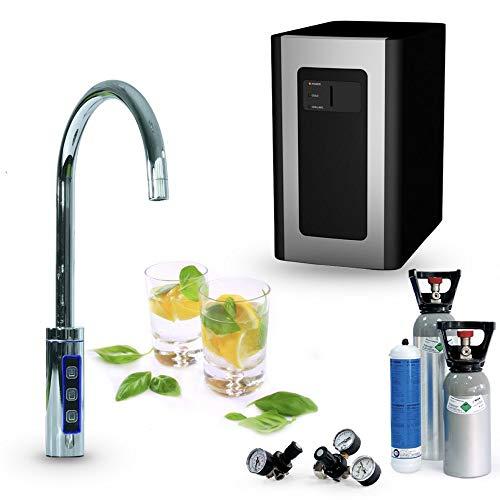Untertisch-Trinkwassersystem SPRUDELUX BLUE DIAMOND inklusive 3-Wege-Zusatzarmatur C-Auslauf Inkl...