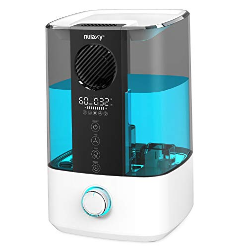 NULAXY Top Fan Luftbefeuchter, 4.5L Raumluftbefeuchter Kühler Nebel Ultraschall Humidifier mit...