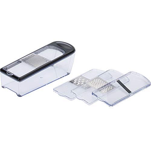 Westmark Reiben-/Hobel-Set mit 4 Schneideinsätzen und Auffangbehälter, Rostfreier Edelstahl/Kunststoff,...